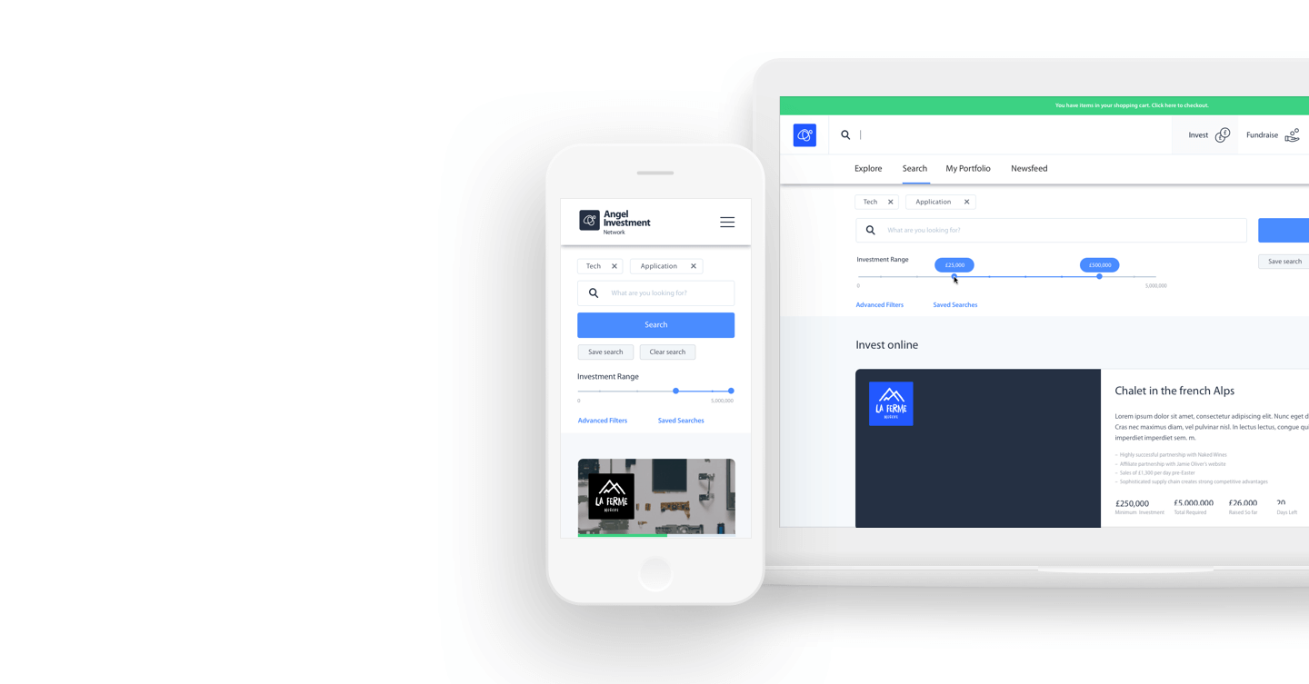 Search for deals and manage them through your private dashboard...